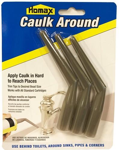 Homax Caulk Around - Caulking Extension Nozzle Tips