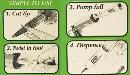 Finish Line Caulking Tool Kit Instructions