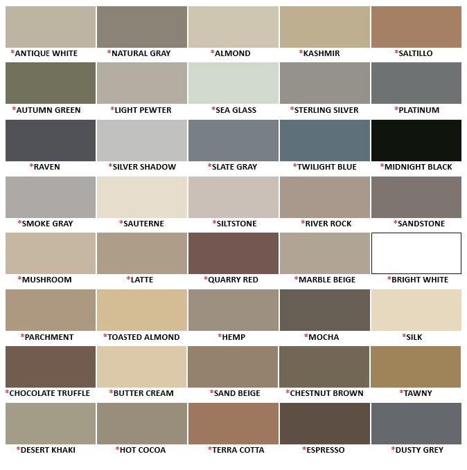 Laticrete Silicone Caulk Color Chart
