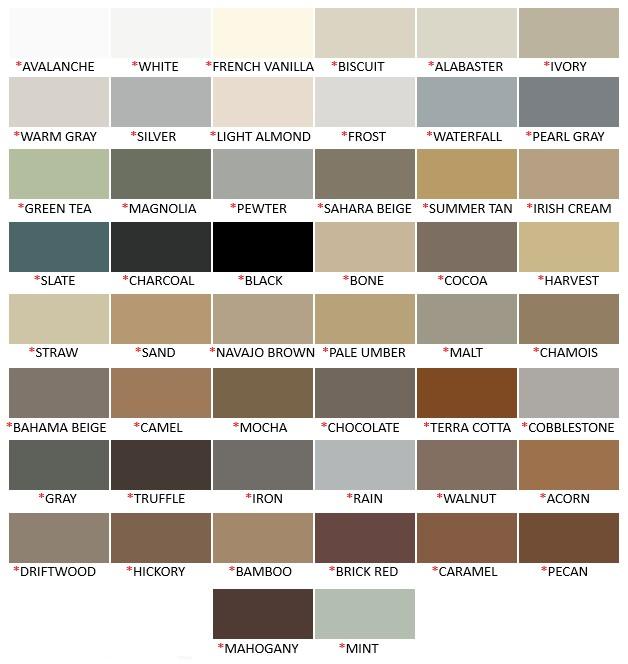 Mapei Colored Caulk Color Chart