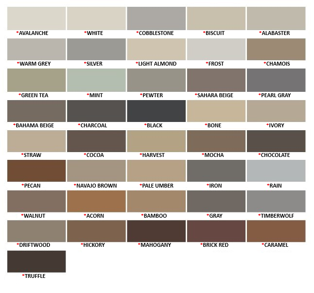 Mapei Ultra Performance Color Chart