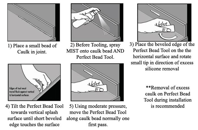 ColorRite Perfect Bead Caulking Tool Instructions