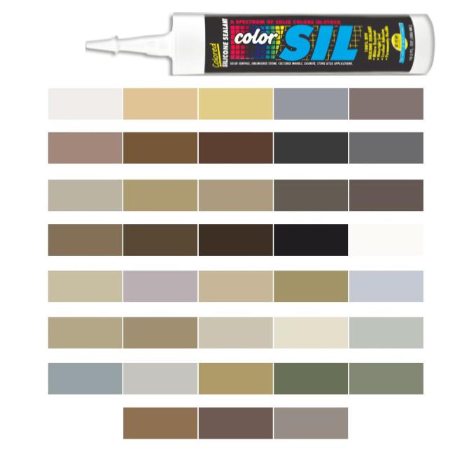 Silicone Colored Caulk - Hydroment Color Line