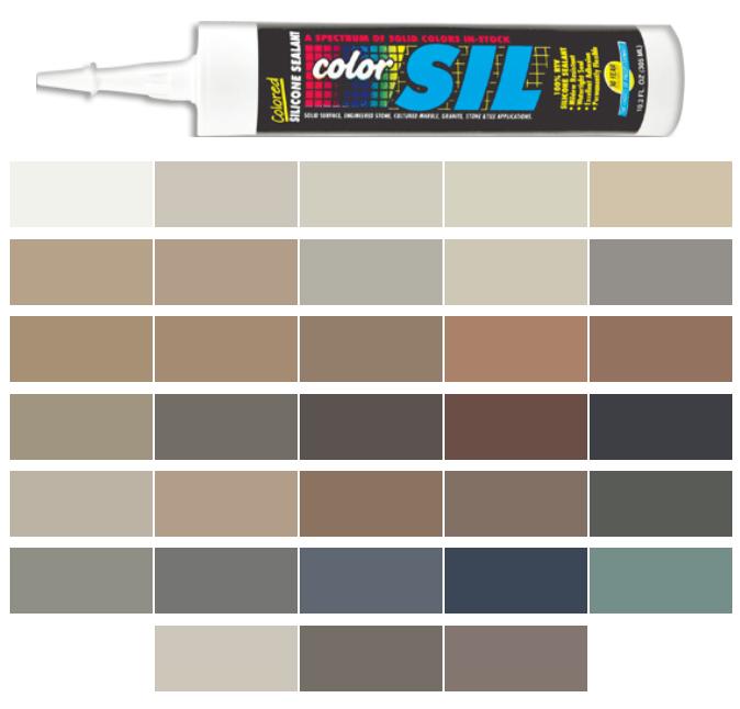 Silicone Colored Caulk - Merkrete Color Line