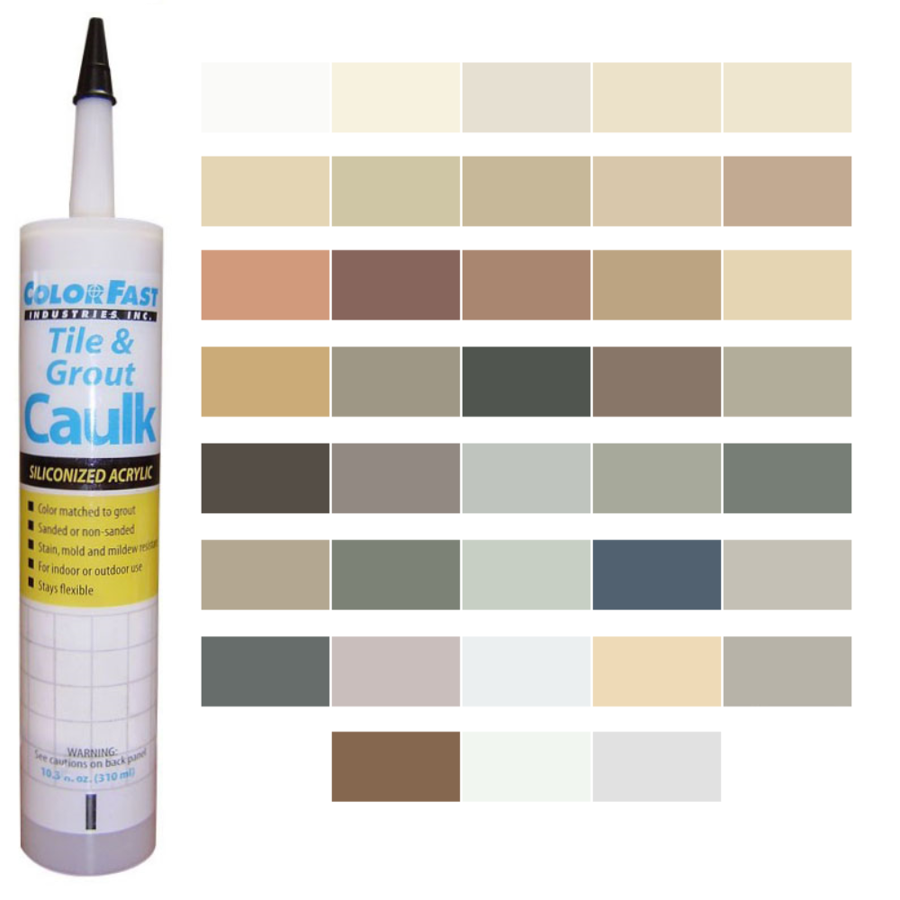 Latex Colored Caulk - Southern Grouts & Mortars Color Line