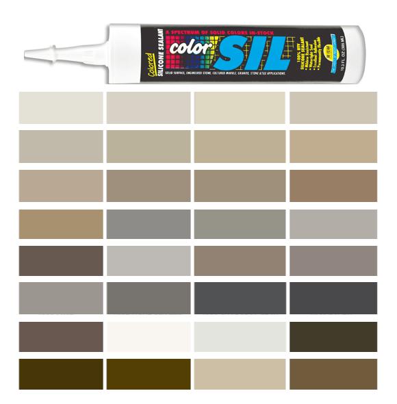 Silicone Colored Caulk - TEC Color Line